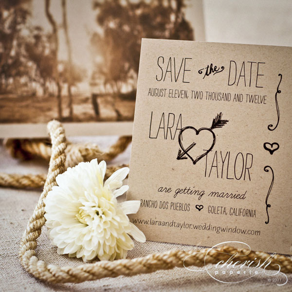 Western Chic wedding stationery