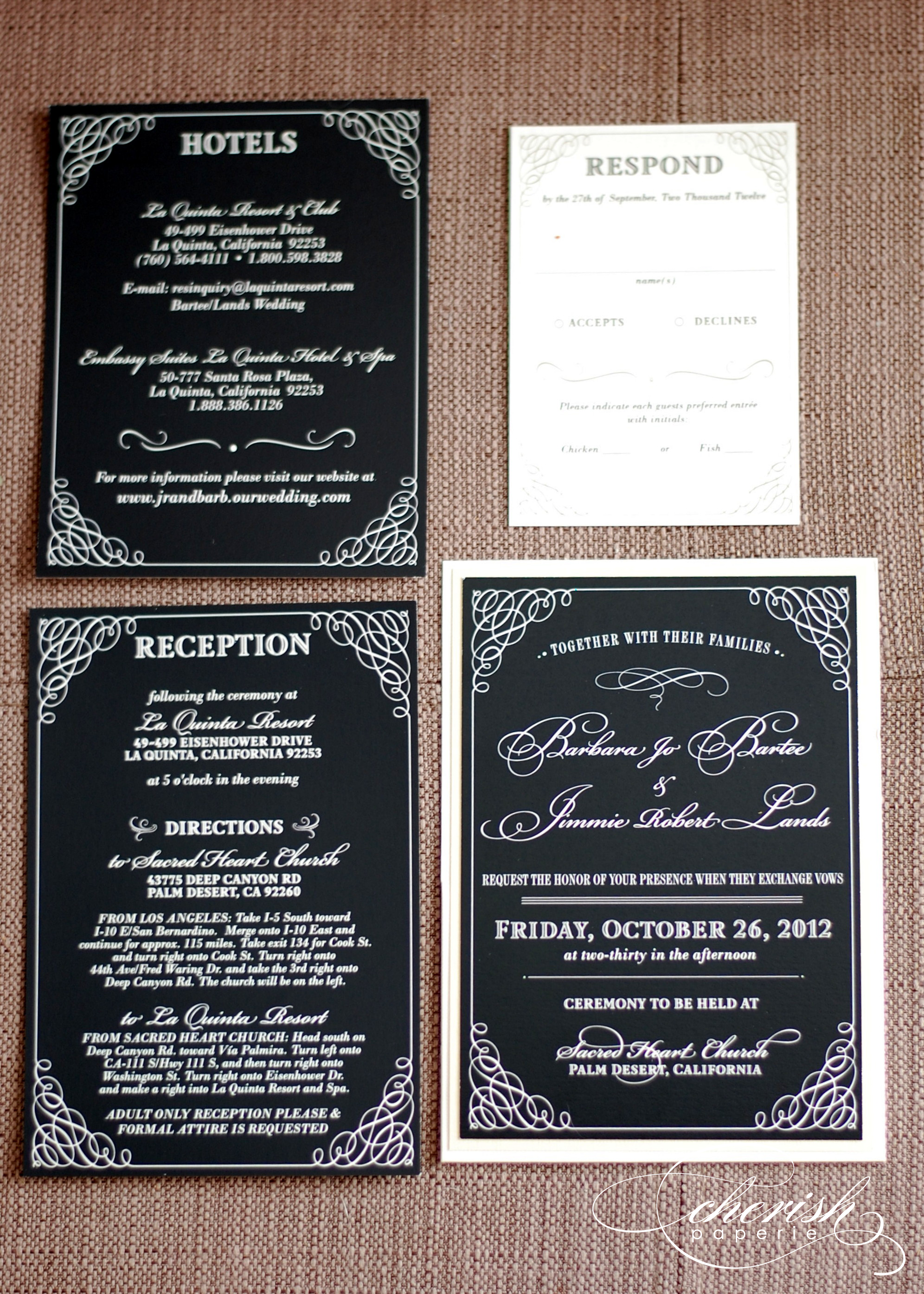 This Just In Black and White Wedding Invitations Cherish Paperie