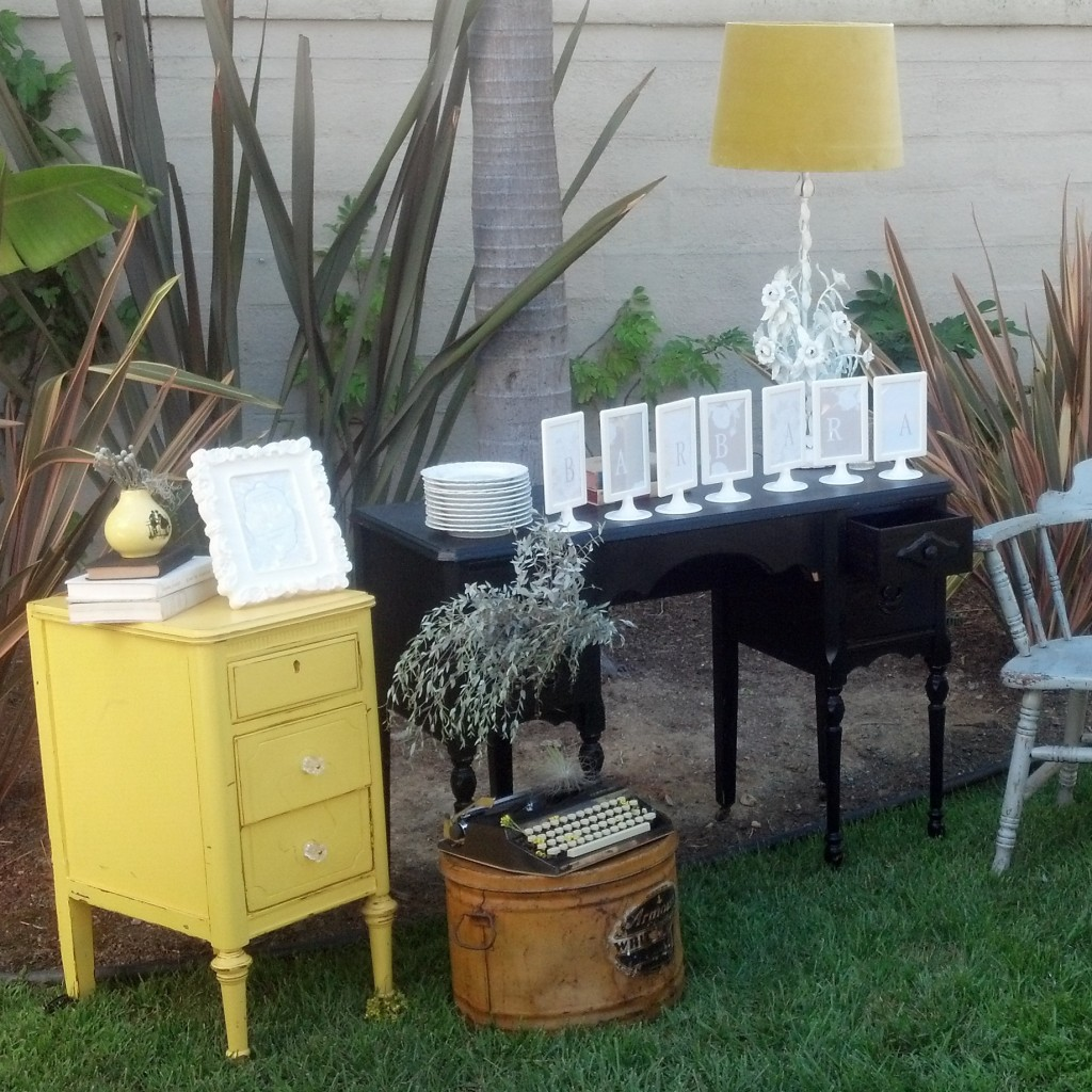 Yellow And Gray Vintage Chic Bridal Shower Preview Cherish Paperie