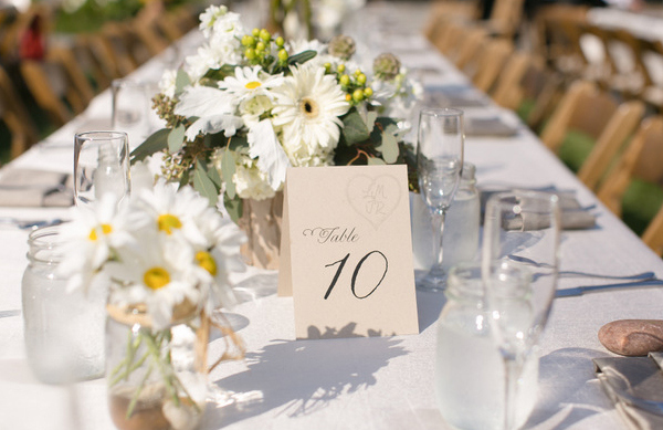 vintage country chic wedding table numbers