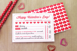 Valentine's Day Coupon Printable Elegance and Enchantment