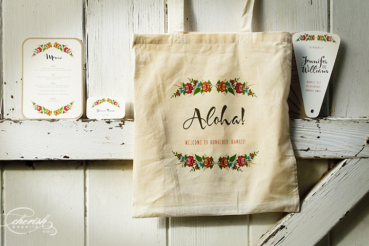 Welcome Totes for Weddings - bohemian theme