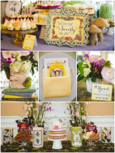 fairy tale first birthday party decor