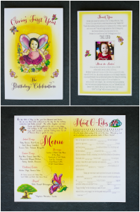 fairy tale first birthday party invitations
