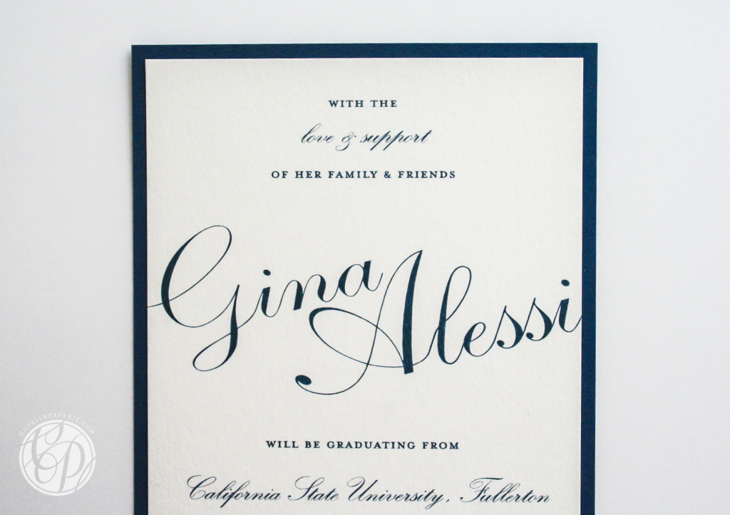 university Graduation Announcements 2013 Cherish Paperie