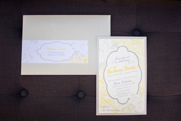 Vintage Grey and Yellow Wedding Shower