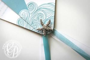 starfish_wedding_program_charm detail