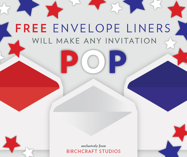 Free Envelope Liners from Birchcraft