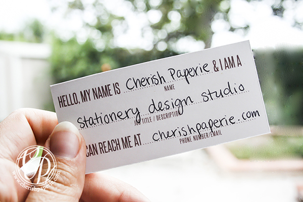 cherish paperie, business cards, calling cards, diy, phone number, stationery, cute, wedding stationery, DIY, crafts, tutorials
