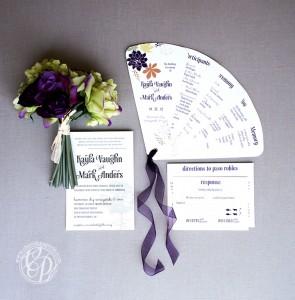 Paso Robles Vineyard Wedding Fan Program