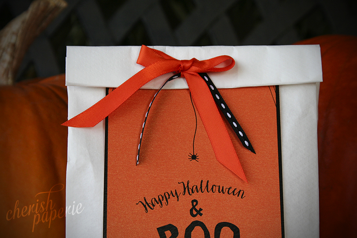 halloween DIY crafts; Hoy to make a boo bag; boo bag; halloween ideas; holiday cards