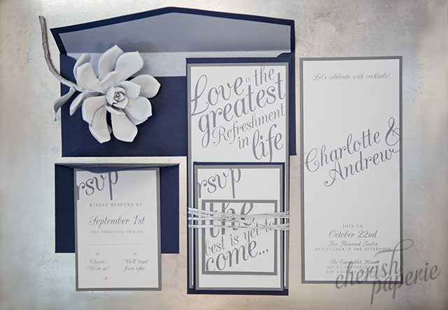 bridal guide; bridal guide magazine; featured invitations; grey wedding; silver wedding; featured wedding; real wedding; urban metallic wedding; urban wedding; surprise wedding; surprise engagement; engagement party