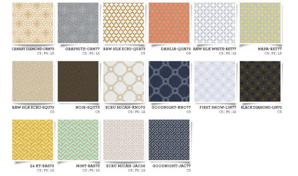 Envelopments 2014 Collection, paper swatches, paper colors,