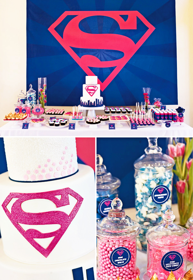 Super Hero Supergirl Party Superhero Birthday
