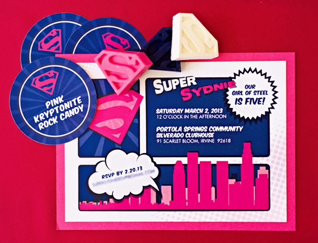 super hero; supergirl; supergirl party; superhero birthday party; superhero party; pink superman party; superman party; pink and blue