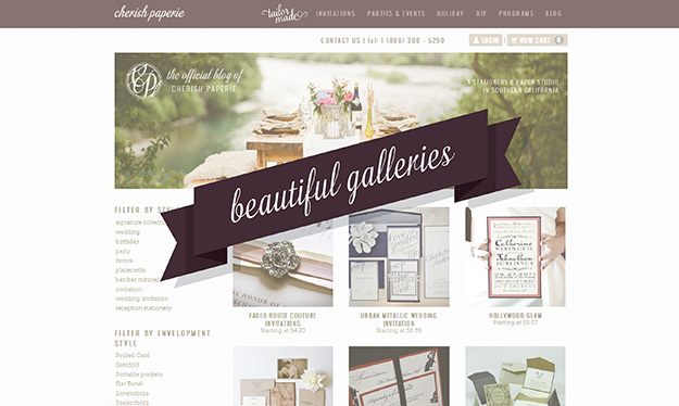 Cherish Paperie New Website Galleries